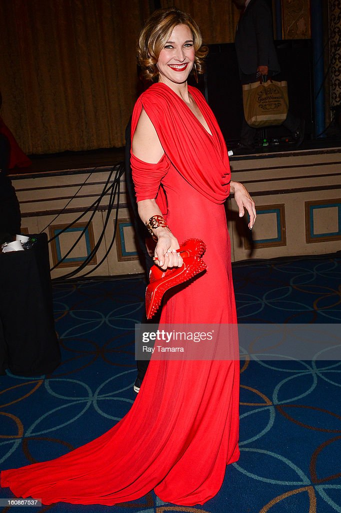 Actress Brenda Strong attends The Heart Truth's Red Dress Collection Fall 2013 Mercedes-Benz Fashion Show at 499 Seventh Avenue on February 6, 2013 in New York City.
