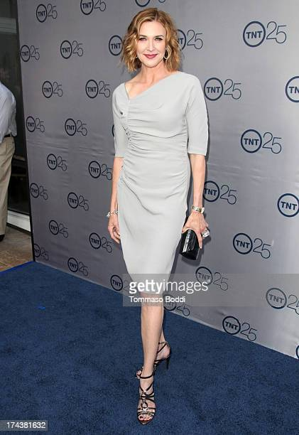 Actress Brenda Strong attends the Television Critic Association's summer press tour TNT's 25th anniversary party held at The Beverly Hilton Hotel on...
