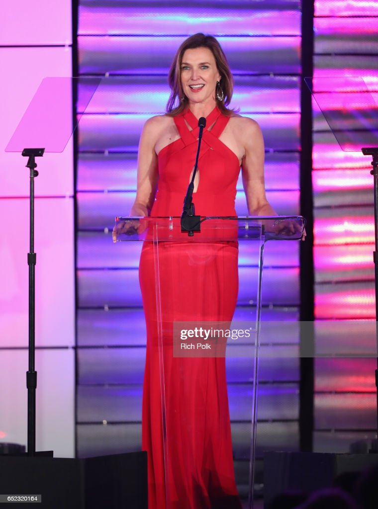 Actress Brenda Strong speaks onstage at the Family Equality Council's Impact Awards at the Beverly Wilshire Hotel on March 11, 2017 in Beverly Hills, California.