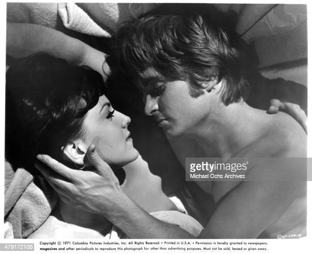 Actress Brenda Vaccaro and actor Michael Douglas in a scene from the movie 'Summertree' circa 1971