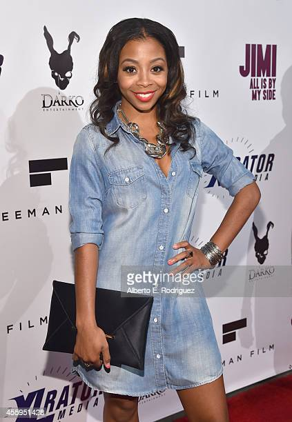 Actress Bresha Webb arrives to the Los Angeles premiere of 'Jimi All Is By My Side' at ArcLight Cinemas on September 22 2014 in Hollywood California