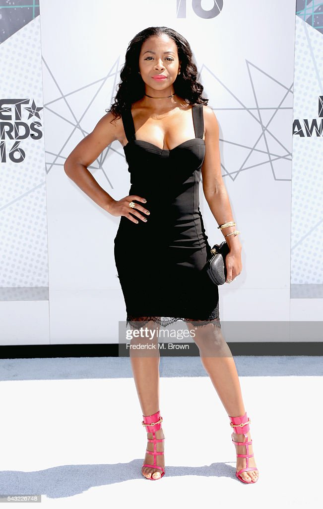 Actress <a gi-track='captionPersonalityLinkClicked' href=/galleries/search?phrase=Bresha+Webb&family=editorial&specificpeople=5460613 ng-click='$event.stopPropagation()'>Bresha Webb</a> attends the 2016 BET Awards at the Microsoft Theater on June 26, 2016 in Los Angeles, California.