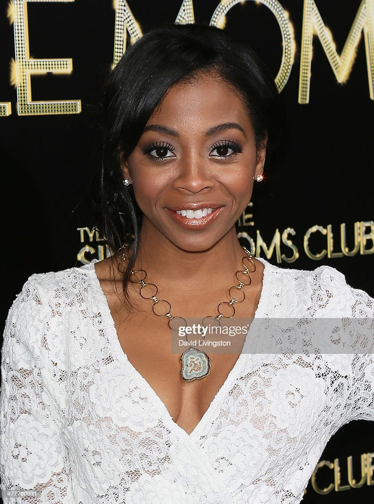 Actress Bresha Webb attends the premiere of Tyler Perry's 'The Single Moms Club' at the ArcLight Cinemas Cinerama Dome on March 10, 2014 in Hollywood, California.