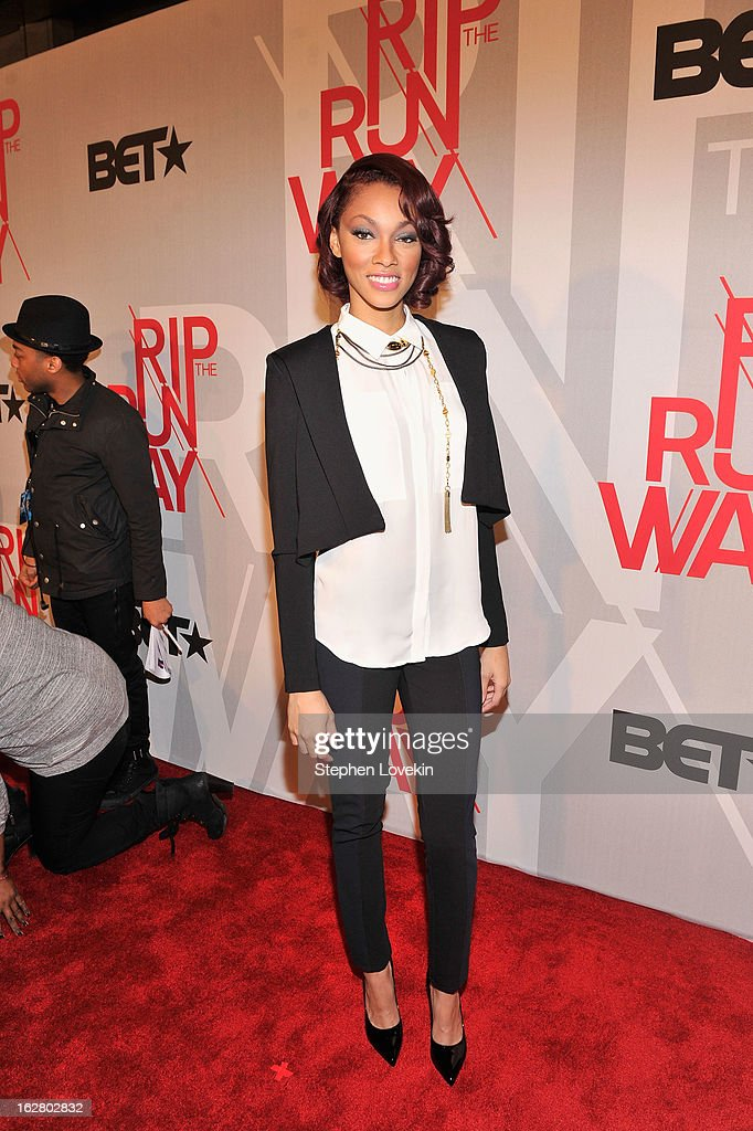 Actress Bria Murphy attends BET's Rip The Runway 2013:Red Carpet at Hammerstein Ballroom on February 27, 2013 in New York City.