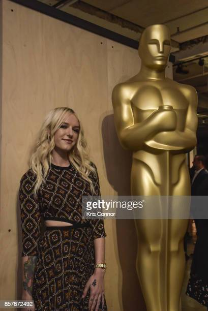 Actress Bria Vinaite attends 'The Academy of Motion Picture Arts Sciences Hosts the 2017 New Members Party' at NeueHouse Madison Square on October 2...