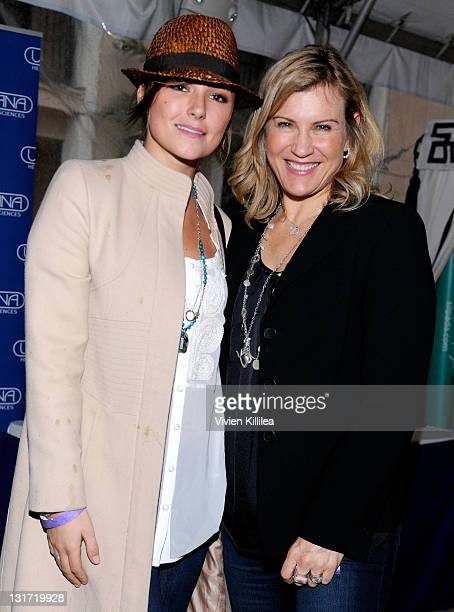 Actress Briana Evigan and fashion expert Kathy Kaehler attend USANA at Kari Feinstein's Academy Awards Style Lounge at Montage Beverly Hills on...
