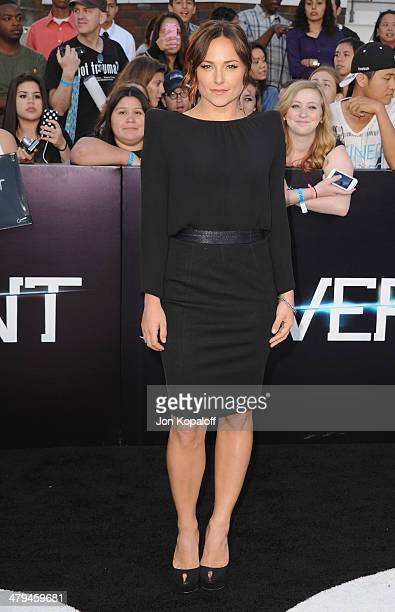 Actress Briana Evigan arrives at the Los Angeles Premiere 'Divergent' at Regency Bruin Theatre on March 18 2014 in Los Angeles California