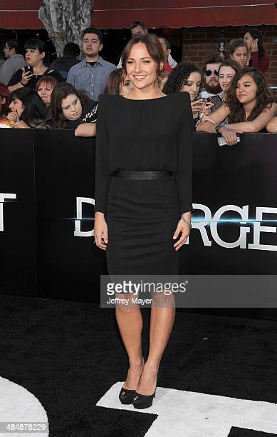 Actress Briana Evigan arrives at the Los Angeles premiere of 'Divergent' at Regency Bruin Theatre on March 18 2014 in Los Angeles California