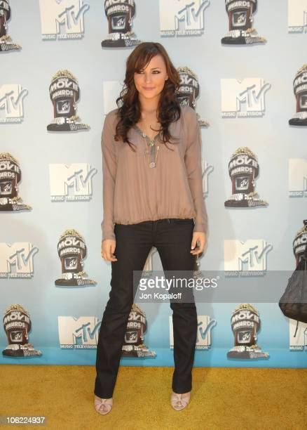 Actress Briana Evigan arrives to the 2008 MTV Movie Awards at the Gibson Amphitheatre on June 1 2008 in Universal City California