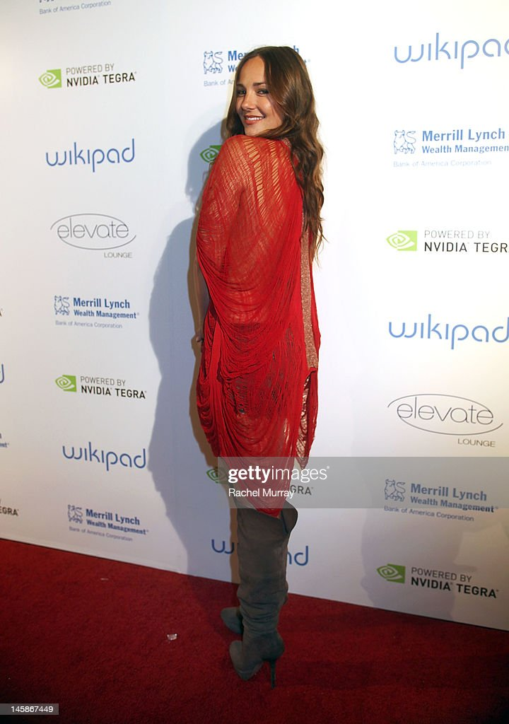 Actress Briana Evigan attends the VIP red carpet cocktail party hosted by WIKIPAD and NVIDIA as part of the celebrations for E3,2012 held at Elevate Lounge on June 6, 2012 in Los Angeles, California.