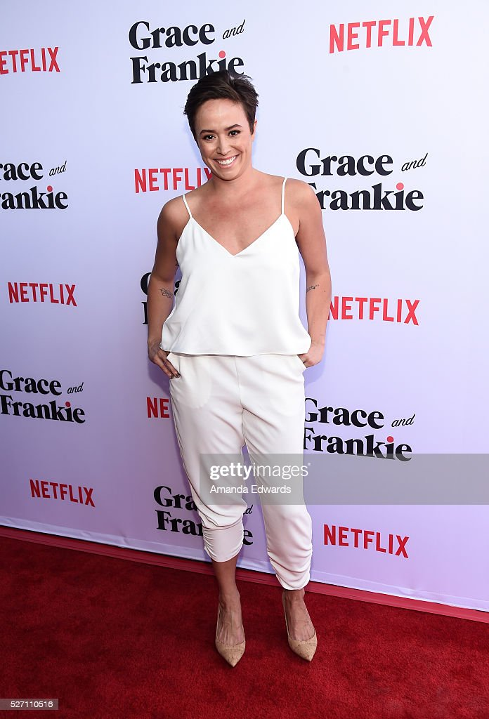 Actress Briana Venskus arrives at the Netflix Original Series 'Grace & Frankie' Season 2 premiere at the Harmony Gold Theater on May 1, 2016 in Los Angeles, California.