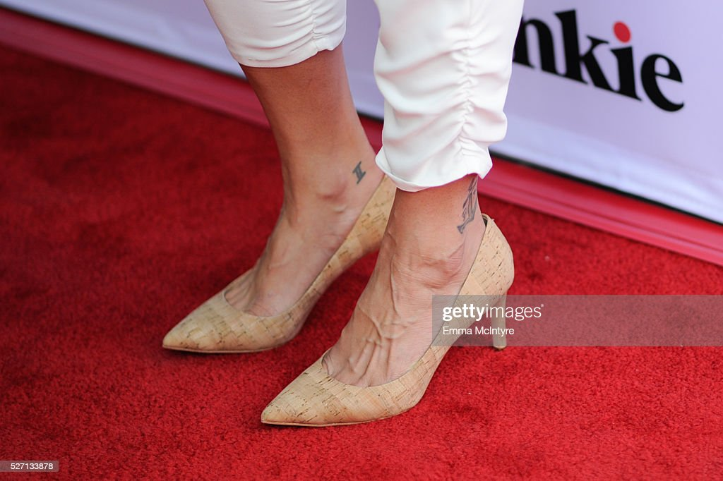 Actress Briana Venskus, shoe detail, attends Netflix Original Series 'Grace & Frankie' season 2 premiere at Harmony Gold on May 1, 2016 in Los Angeles, California.
