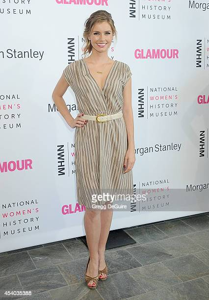 Actress Brianna Brown arrives at the National Women's History Museum's 3rd Annual Women Making History event at Skirball Cultural Center on August 23...
