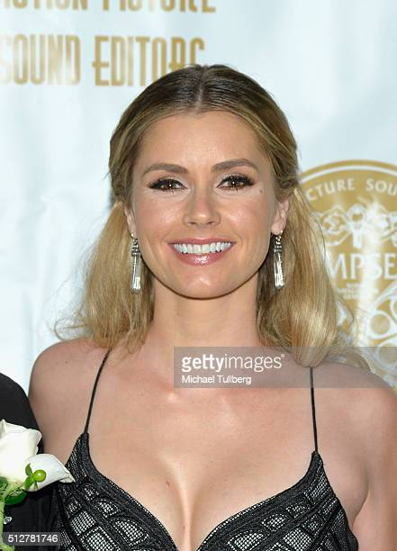 Actress Brianna Brown attends the 63rd MPSE Golden Reel Awards at Westin Bonaventure Hotel on February 27 2016 in Los Angeles California