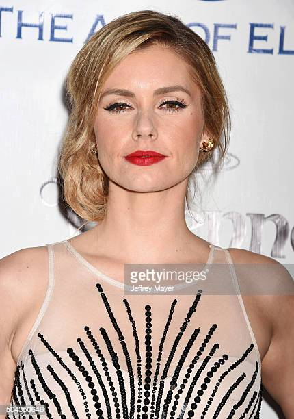 Actress Brianna Brown attends the Art of Elysium 2016 HEAVEN Gala presented by Vivienne Westwood Andreas Kronthaler at 3LABS on January 9 2016 in...