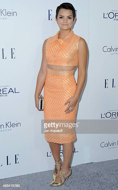 Actress Brianna Hildebrand arrives at the 22nd Annual ELLE Women In Hollywood Awards at Four Seasons Hotel Los Angeles at Beverly Hills on October 19...