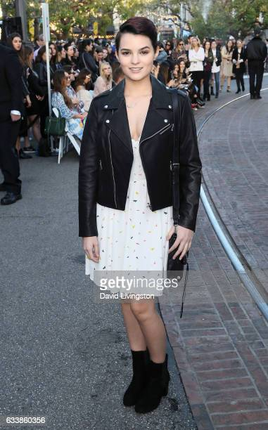 Actress Brianna Hildebrand attends Rebecca Minkkoff's 'See Now Buy Now' fashion show at The Grove on February 4 2017 in Los Angeles California