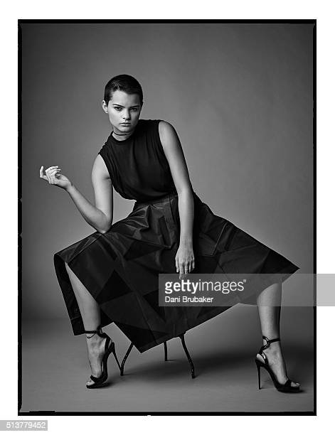 Actress Brianna Hildebrand is photographed for Interview Magazine on November 16 2015 in El Segundo California