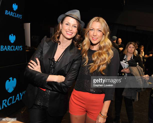 Actress Bridget Moynahan and singer Colbie Caillat attend the Amnesty International Concert presented by the CBGB Festival at Barclays Center on...