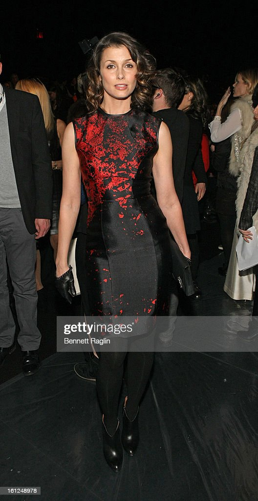 Actress Bridget Moynahan attends Monique Lhuillier during Fall 2013 Mercedes-Benz Fashion Week at The Theatre at Lincoln Center on February 9, 2013 in New York City.