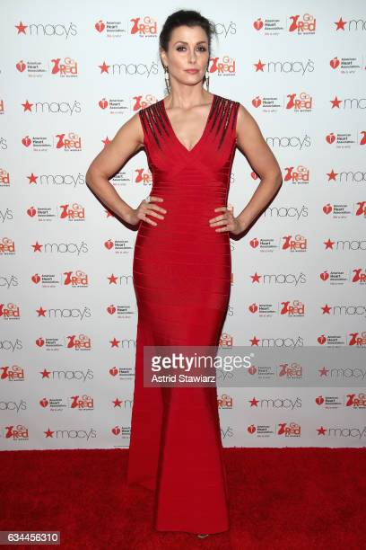 Actress Bridget Moynahan attends the American Heart Association's Go Red For Women Red Dress Collection 2017 presented by Macy's at Fashion Week in...