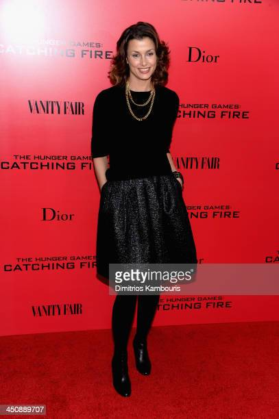 Actress Bridget Moynahan attends the 'Hunger Games Catching Fire' New York Premiere at AMC Lincoln Square Theater on November 20 2013 in New York City