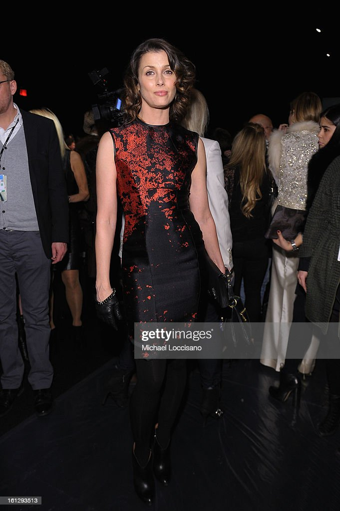 Actress Bridget Moynahan attends the Monique Lhuillier Fall 2013 fashion show during Mercedes-Benz Fashion at The Theatre at Lincoln Center on February 9, 2013 in New York City.