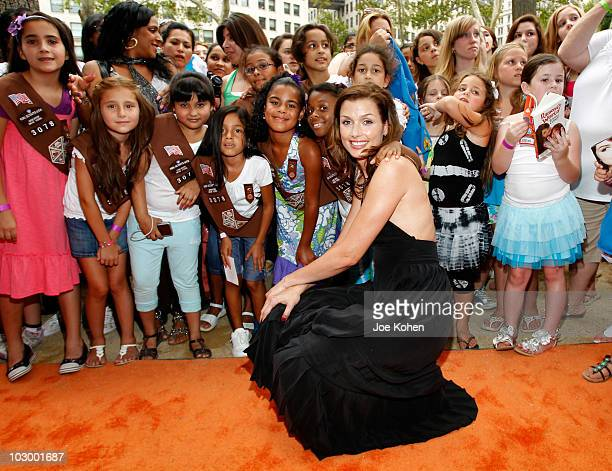 Actress Bridget Moynahan attends the premiere of 'Ramona and Beezus' presented by Tide with ActiLift at Madison Square Park on July 20 2010 in New...