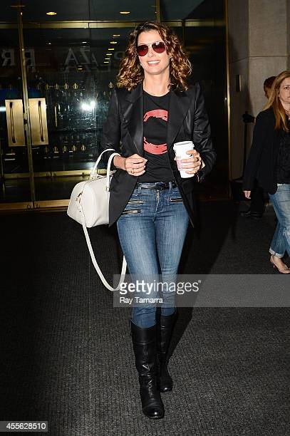 Actress Bridget Moynahan leaves the 'Today Show' taping at the NBC Rockefeller Center Studios on September 17 2014 in New York City