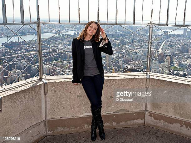Actress Bridget Moynahan visits the The Empire State Building on October 6 2011 in New York City