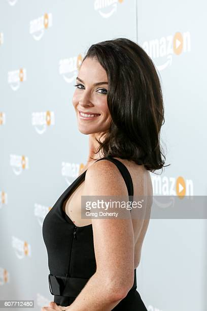 Actress Bridget Regan arrives at the Amazon's Emmy Celebration at the Sunset Tower Hotel on September 18 2016 in West Hollywood California