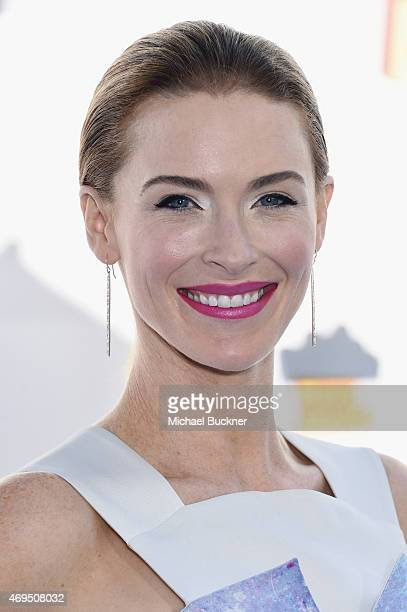 Actress Bridget Regan attends The 2015 MTV Movie Awards at Nokia Theatre LA Live on April 12 2015 in Los Angeles California