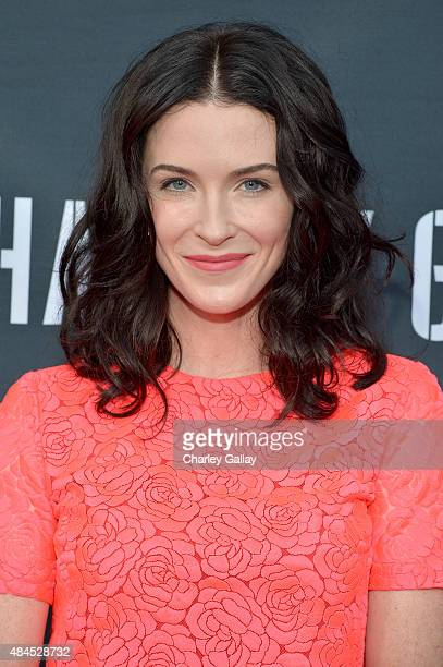 Actress Bridget Regan attends the Amazon premiere screening for original drama series 'Hand Of God' at The Theatre at Ace Hotel on August 19 2015 in...