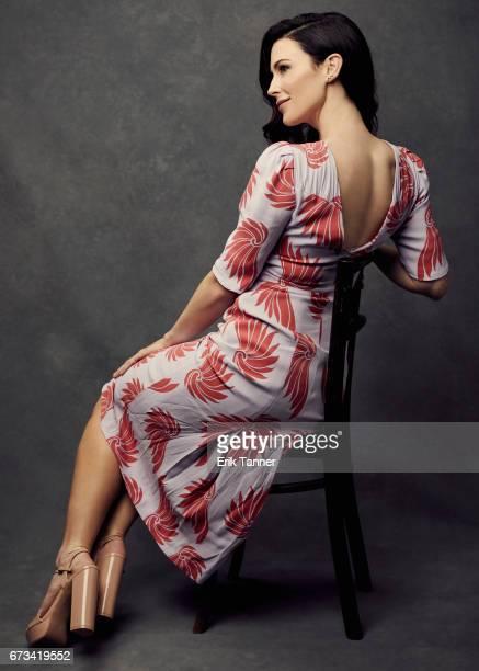 Actress Bridget Regan from 'Devil's Gate' poses at the 2017 Tribeca Film Festival portrait studio on on April 24 2017 in New York City