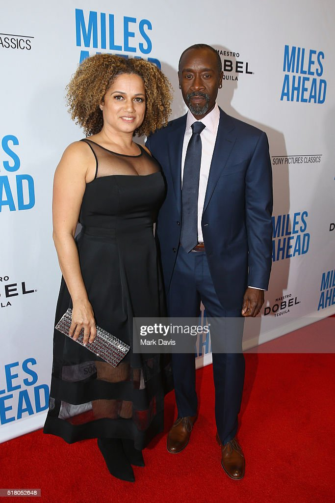 Actress Bridgid Coulter and director/actor Don Cheadle attend the premiere of Sony Pictures Classics' 'Miles Ahead' at Writers Guild Theater on March 29, 2016 in Beverly Hills, California.