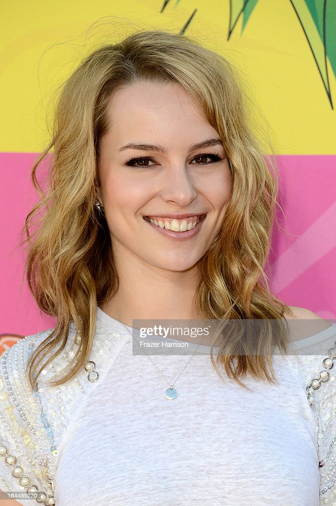 Actress Bridgit Mendler arrives at Nickelodeon's 26th Annual Kids' Choice Awards at USC Galen Center on March 23, 2013 in Los Angeles, California.