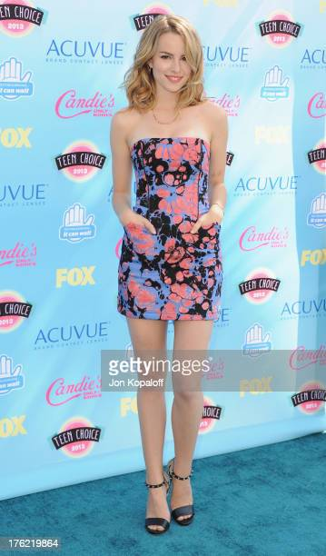 Actress Bridgit Mendler arrives at the 2013 Teen Choice Awards at Gibson Amphitheatre on August 11 2013 in Universal City California