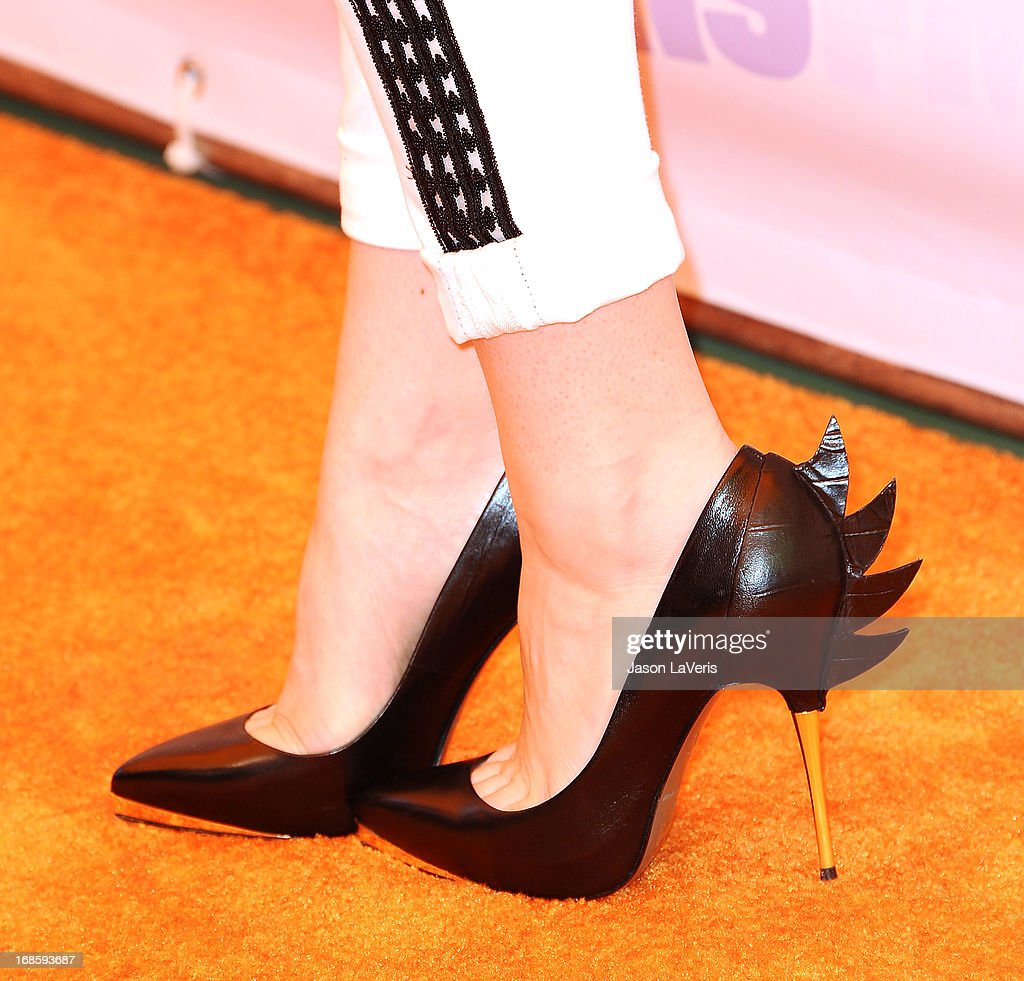 Actress Bridgit Mendler (shoe detail) attends 102.7 KIIS FM's Wango Tango at The Home Depot Center on May 11, 2013 in Carson, California.