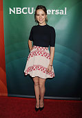 Actress Bridgit Mendler attends the 2015 NBCUniversal Summer Press Day held at the The Langham Huntington Hotel and Spa on April 02 2015 in Pasadena...