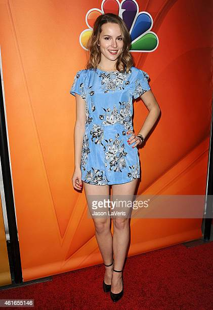 Actress Bridgit Mendler attends the NBCUniversal 2015 press tour at The Langham Huntington Hotel and Spa on January 16 2015 in Pasadena California