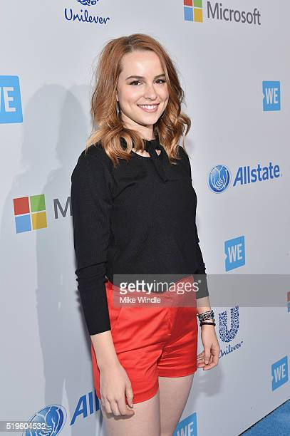 Actress Bridgit Mendler walks the WE Carpet at WE Day California 2016 at The Forum on April 7 2016 in Inglewood California