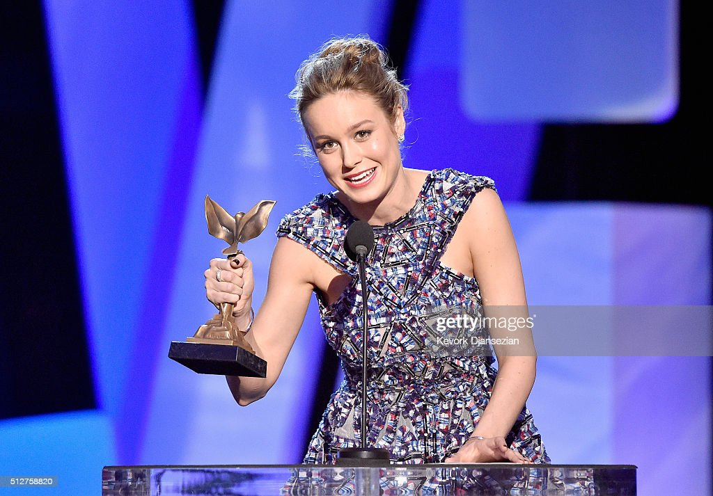 Actress Brie Larson accepts the Best Actress award for 'Room' onstage during the 2016 Film Independent Spirit Awards on February 27, 2016 in Santa Monica, California.