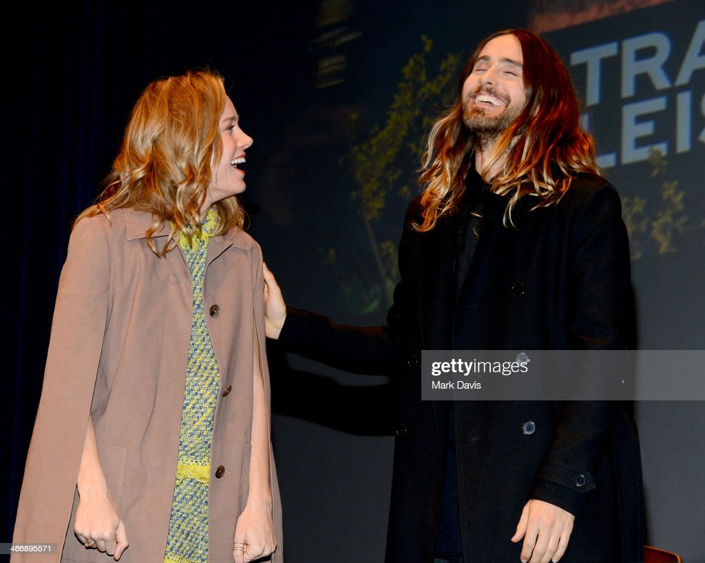 Actress <a gi-track='captionPersonalityLinkClicked' href=/galleries/search?phrase=Brie+Larson&family=editorial&specificpeople=171226 ng-click='$event.stopPropagation()'>Brie Larson</a> and actorJared Leto attend the 29th Santa Barbara International Film Festival Virtuosos Award to Daniel Bruhl, Michael B. Jordan, <a gi-track='captionPersonalityLinkClicked' href=/galleries/search?phrase=Brie+Larson&family=editorial&specificpeople=171226 ng-click='$event.stopPropagation()'>Brie Larson</a>, Jared Leto and June Squibbon at the Arlington Theatre on February 4, 2014 in Santa Barbara, California.