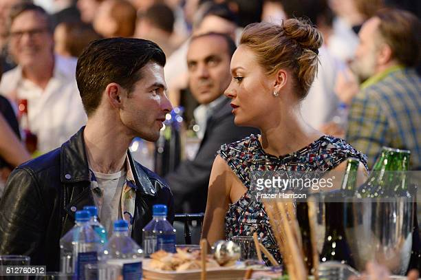 Actress Brie Larson and musician Alex Greenwald attend the 2016 Film Independent Spirit Awards on February 27 2016 in Santa Monica California