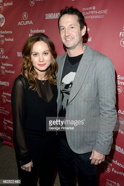 Actress Brie Larson and Sundance Film Festival Director of Programming Trevor Groth attend 'Digging For Fire' premiere during the 2015 Sundance Film...