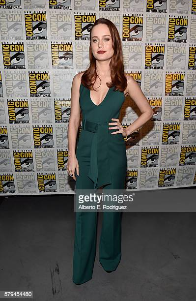 Actress Brie Larson announced as Captain Marvel/Carol Danvers attends the San Diego ComicCon International 2016 Marvel Panel in Hall H on July 23...