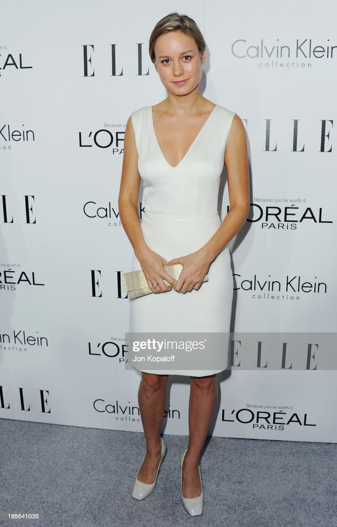 Actress <a gi-track='captionPersonalityLinkClicked' href=/galleries/search?phrase=Brie+Larson&family=editorial&specificpeople=171226 ng-click='$event.stopPropagation()'>Brie Larson</a> arrives at ELLE Celebrates 20th Annual Women In Hollywood Event at Four Seasons Hotel Los Angeles at Beverly Hills on October 21, 2013 in Beverly Hills, California.