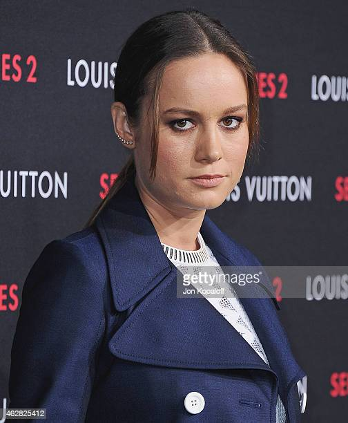 Actress Brie Larson arrives at Louis Vuitton 'Series 2' The Exhibition on February 5 2015 in Hollywood California