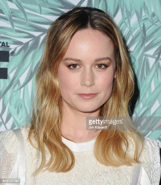 Actress Brie Larson arrives at the 10th Annual Women In Film PreOscar Cocktail Party at Nightingale Plaza on February 24 2017 in Los Angeles...
