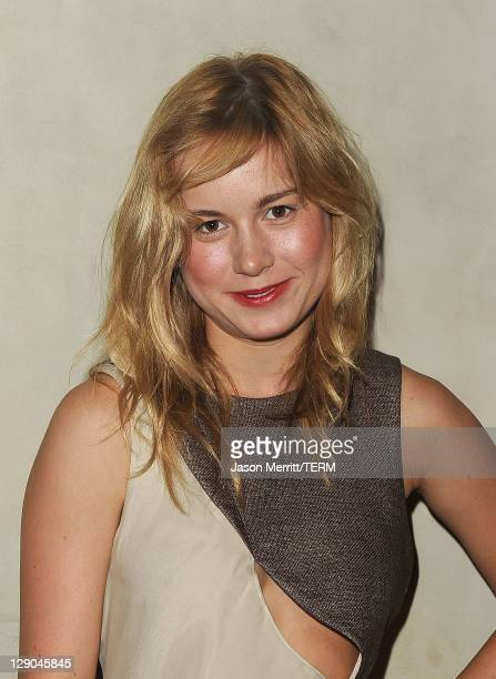 Actress Brie Larson arrives at the Giorgio Armani / Vanity Fair private dinner on October 11 2011 in Los Angeles California